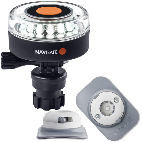 Navisafe Navilight 360 2NM White w-Navimount Base  RIB Mount - White [040KIT4]