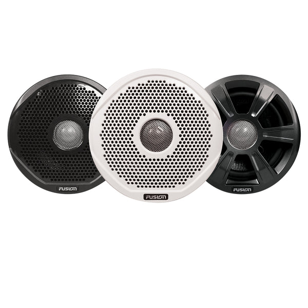 "FUSION FR6022 6"" Round 2-Way IPX65 Marine Speakers - 200W - Pair w-3 Speaker Grilles Provided - *Case of 6* [010-01848-00CASE]"