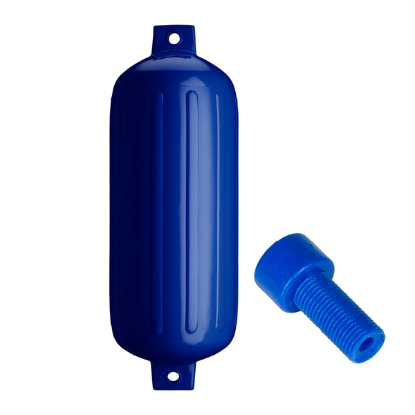 "Polyform G-6 Twin Eye Fender 11"" x 30"" - Cobalt Blue w-Air Adapter [G-6-COBALT BLUE]"