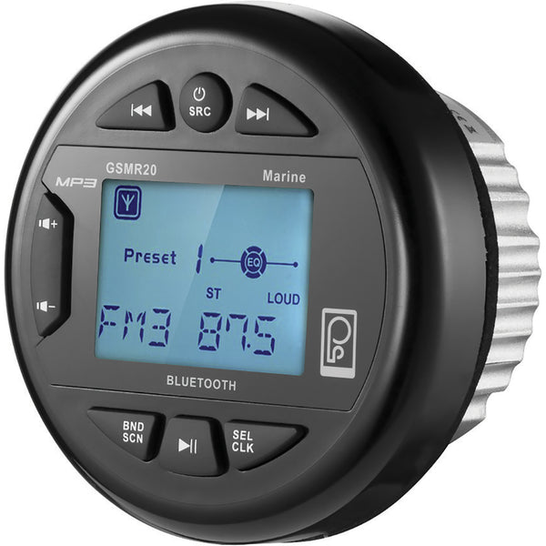 Poly-Planar GSMR20 AM-FM Bluetooth Gauge Series Marine Radio [GSMR20]