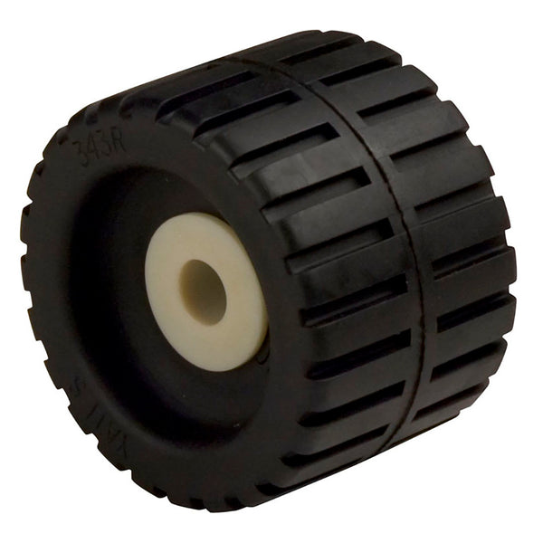 "C.E. Smith Ribbed Wobble Roller 4-3-8"" - 5-8""ID w-Bushing Black [29531]"
