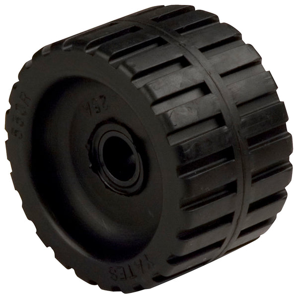 "C.E. Smith Ribbed Wobble Roller 5-3-4""ID w-Bushing Black [29533]"