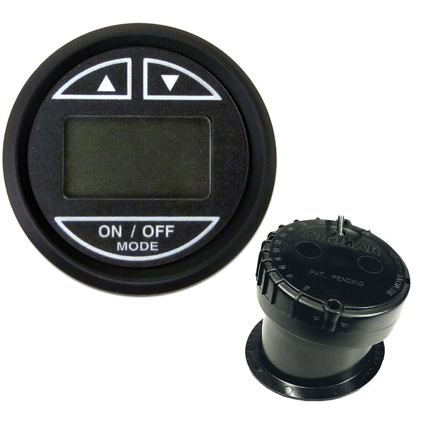 "Faria 2"" Depth Sounder w-In-Hull Transducer - Euro Black [12851]"