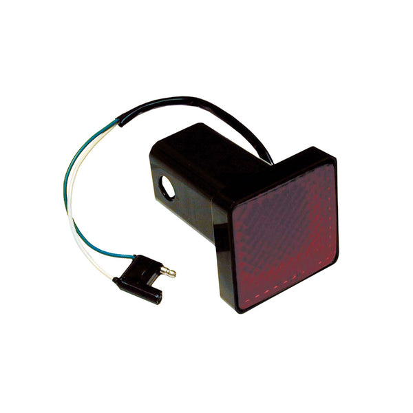 "Draw-Tite Receiver Tube Cover 2"" Square Brake Light w-4-Flat Plug [80980]"