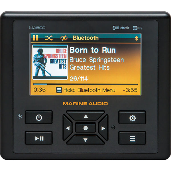 "JENSEN Marine Audio MA500 4.3"" Color Stereo w-Bluetooth, USB, AUX Inputs  App Control [MA500]"