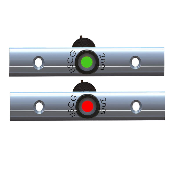 "TACO Rub Rail Mounted LED Navigation Light Set - 4"" w-Deutsch Plug Port  Starboard [F38-6810B-1]"