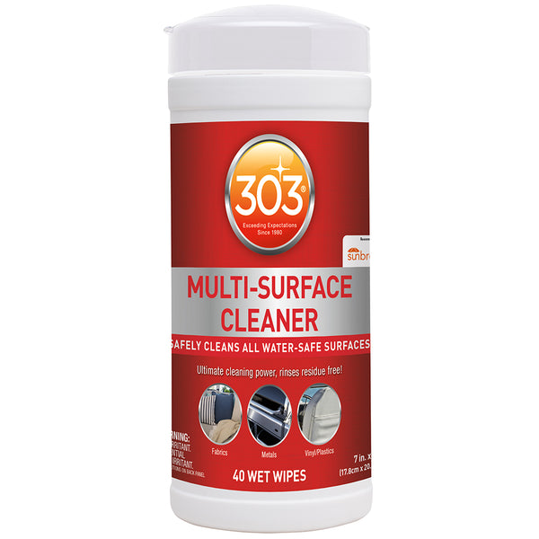 303 Multi-Surface Cleaner Wipes - 40 Towelettes *Case of 6* [30220CASE]