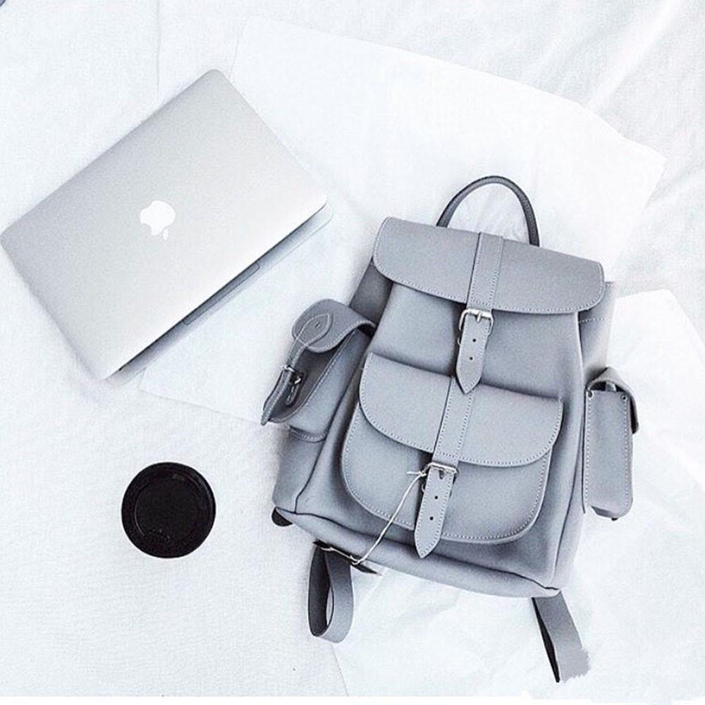 Cute Faux Leather Backpack College School Bags 56808bf9e63ff
