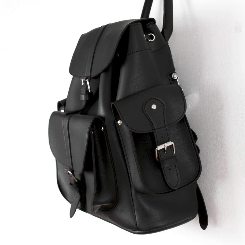 Cute Faux Leather Backpack College School Bags