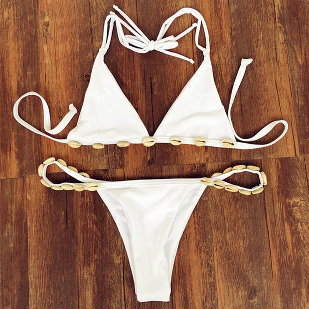 Seashell  Triangle Bikini Set