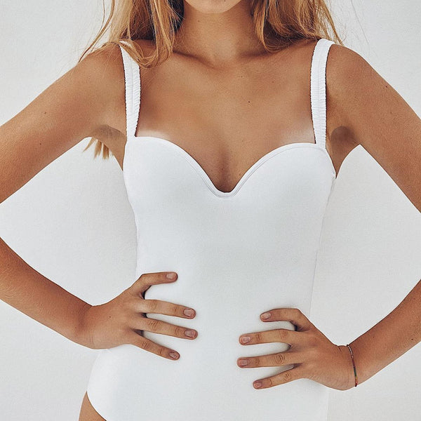 Scrunched Strappy One Piece Swimsuit - worthtryit.com