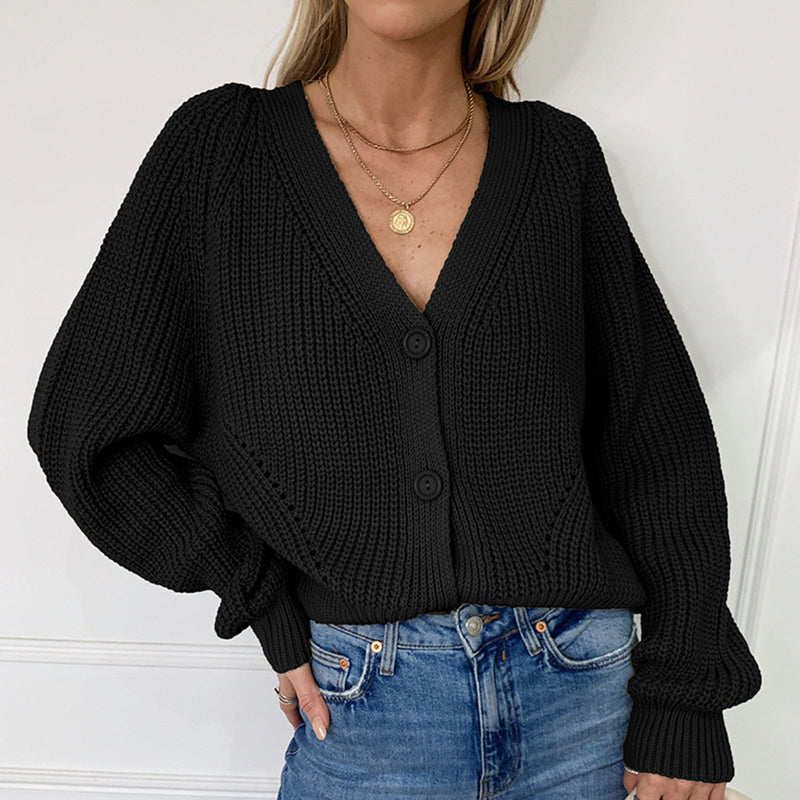Loose Knit Button Up Cardigan