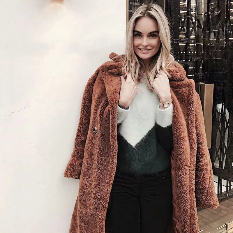 Faux Fur Teddy Coat - worthtryit.com