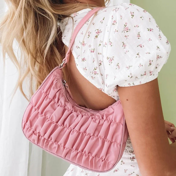 Scrunched Hobo Shoulder Bag