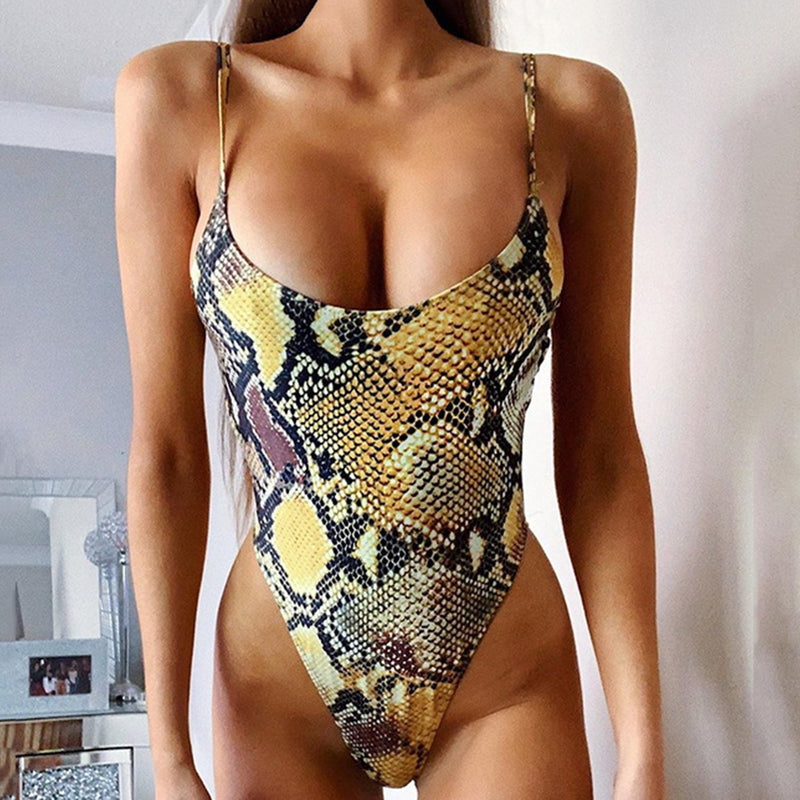 Snake Strappy One Piece  Swimsuit