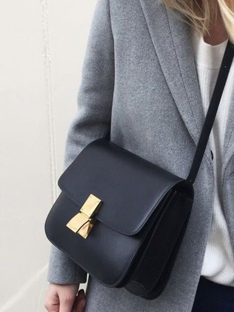 Cute Leather Box bag