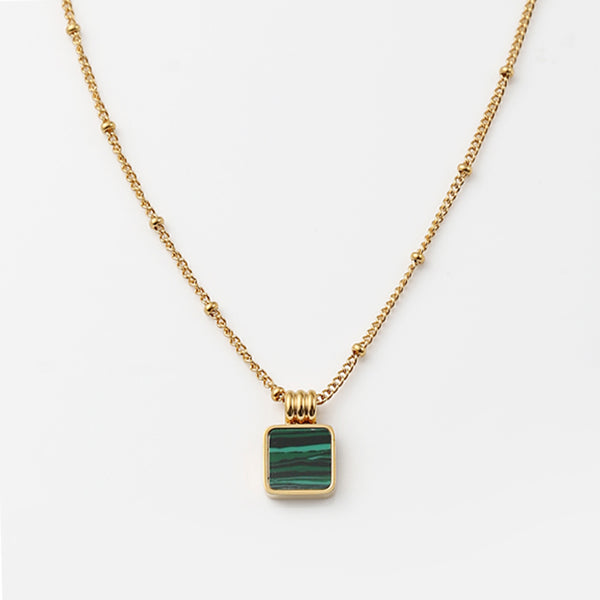 Square Gold Necklace
