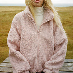 Soft Stand Up Fleece Teddy Jacket