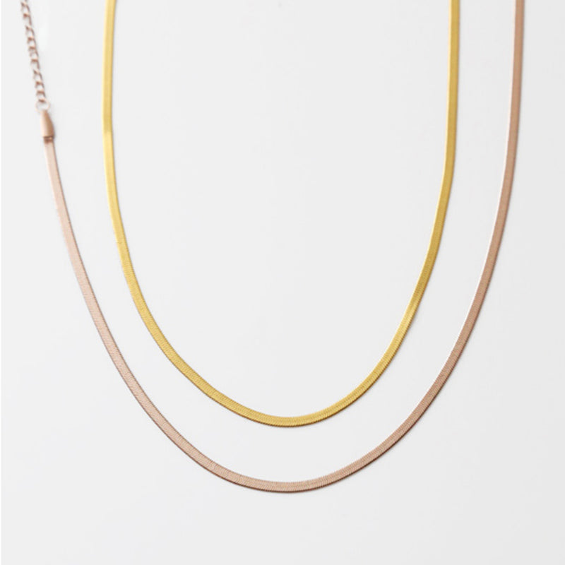 Vintage 14K Gold Snake Bone Necklace