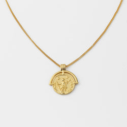 Vintage Rome Coin 14K Gold Necklace