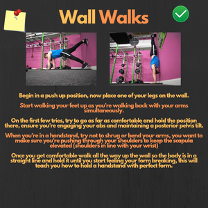 How To Perform Wall Walks (Great For Learning How To Handstand)