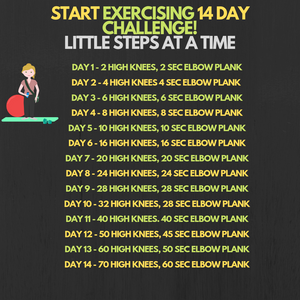 Start Exercising With This 14 Day Challenge