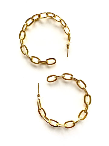 Chunky chains Hoops - Gold 24KT 💫