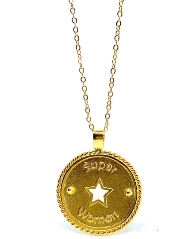 • Super 🌟 Woman • - Necklace - gold 24kt