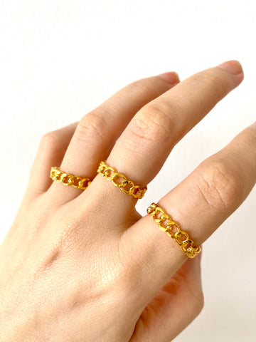 Sophie chain ring - gold 24KT