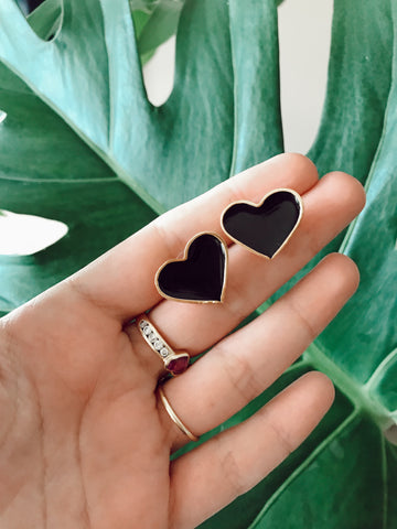 Medium Heart - gold 24k - Black or White
