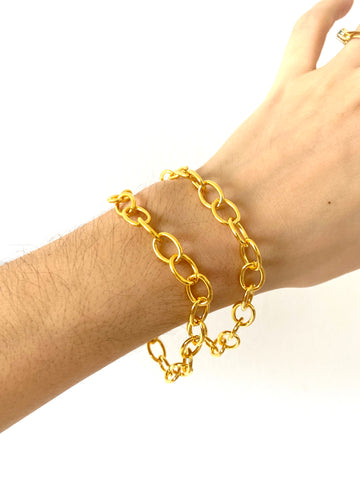 "The ""oval"" chains - bracelet - gold 24KT"