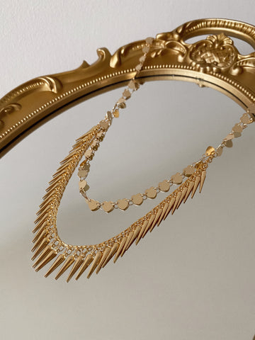Mil spikes - gold 24k - necklace