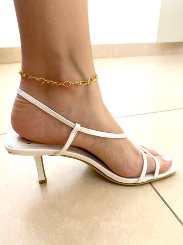 Ankle - tobillera - The Grazzie Braided - gold 24k