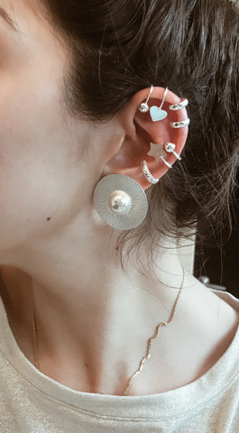Earcuffs - no perforations - Silver 925