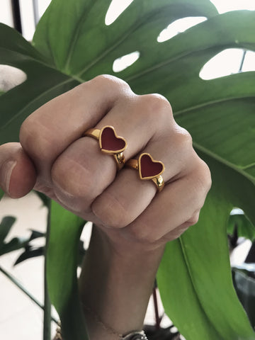 Mini chiquito - Heart ring - 24k gold plated