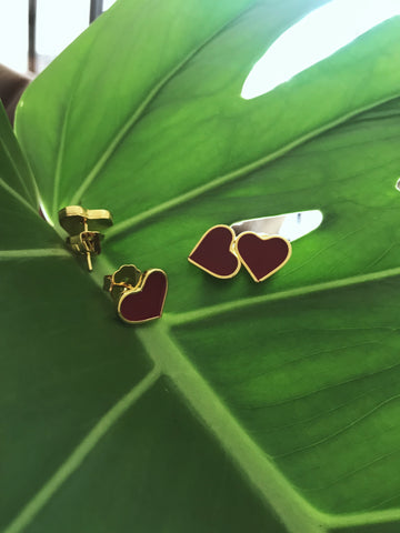 Mini hearts studs - Gold24k plated -