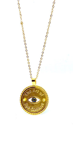 • The art of Eye Contact • - Medallion - Gold 24kt
