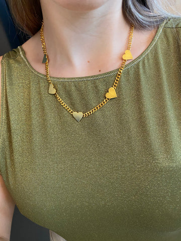 "The ""MultiHeart"" Sophie necklace - Gold24k"