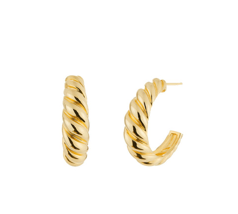 """Camille"" hoops Dome Big - Gold 24KT or silver 925"