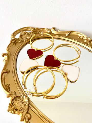 SUPER LOVE HOOPS - Luxury gold 24KT finished