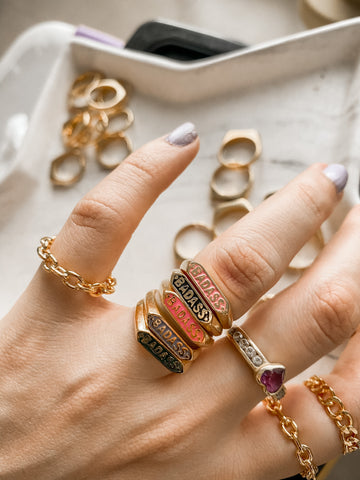 • BADASS • Ring gold 24KT - more colors inside