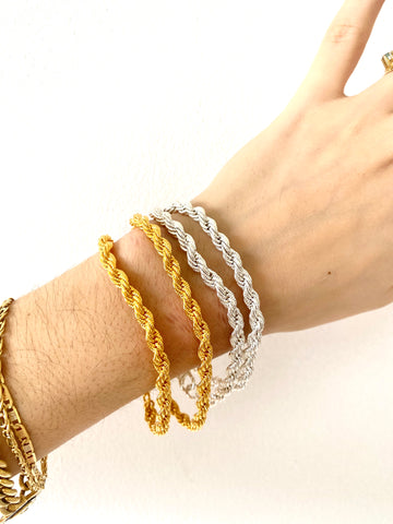Chloé Braided - bracelet - gold 24KT or silver 925