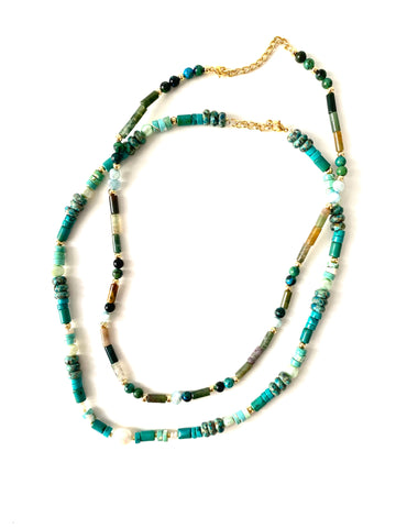 PUCCAS duo set turquoise and jades
