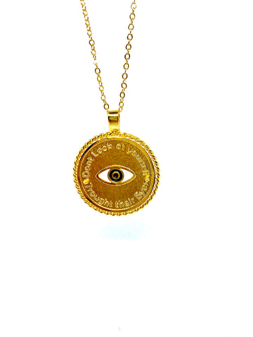 • Don't look at yourself trough their Eyes• - Necklace - gold 24kt