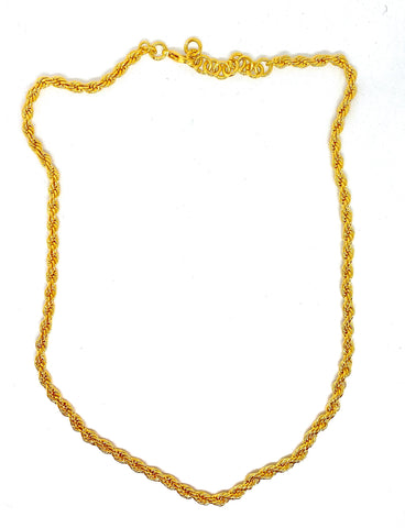 The chloé Braided necklace - Gold 24kt
