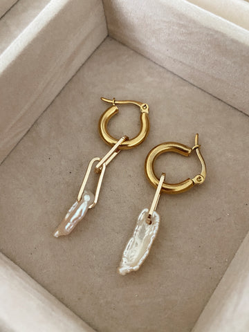 The cube irregular - mini hoops - gold 24k
