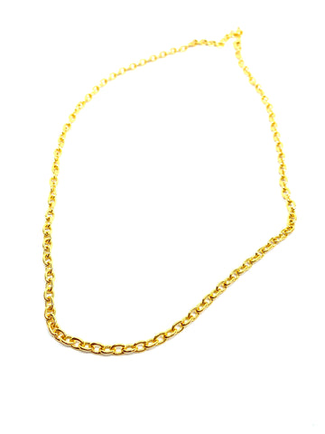 Tiny Slabons - necklace - gold 24KT or silver 925
