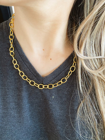 "The ""oval"" chains - necklace - gold 24KT"