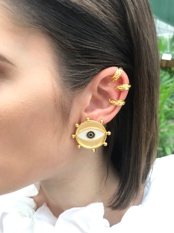 "Multibalines ""Eye"" stud EARRIGNS - gold 24k - SOLD OUT"
