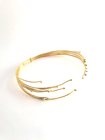 Multi Thread choker - gold 24k